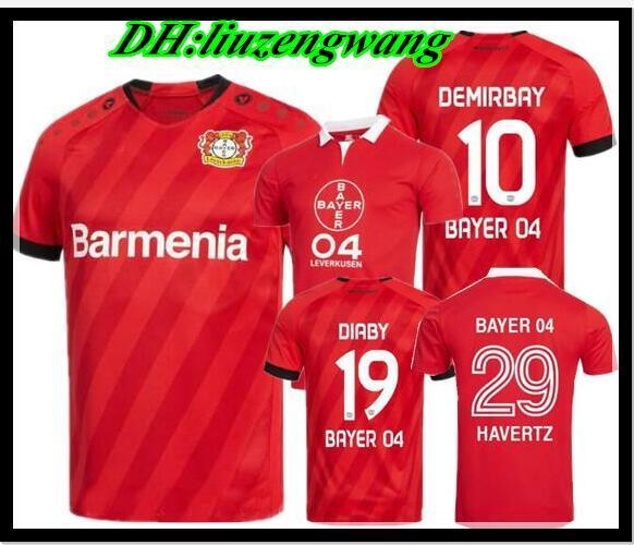19 20 maillots de football Bayer 04 Leverkusen édition spéciale 40 ans DEMIRRBAY rouge BAILEY HAVERTZ VOLLAND BELLARABI maillots de football thailande