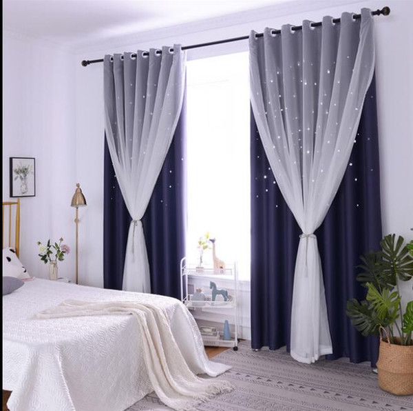 Navy Blue Yarn + Curtain