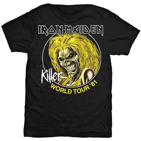 Iron Maiden World Tour 81 Killers Steve Harris T-Shirt Officiel Hommes