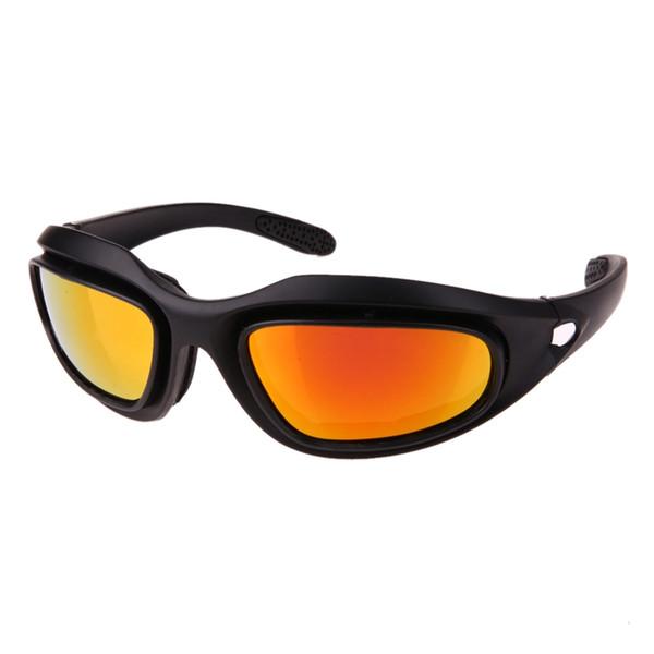 Polarize Bisiklet MTB Bisiklet Gözlük Ordu Askeri Güneş Gözlüğü 4 Lens Kiti erkek Çöl Fırtınası Savaş Oyunu Taktik Gözlük Spor Aracı # 110098