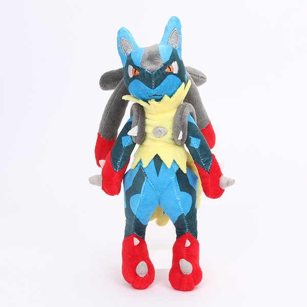 """Hot New 11"""" 28CM Lucario XY Plush Doll Anime Collectible Dolls Party Gifts Soft Stuffed Toys"""