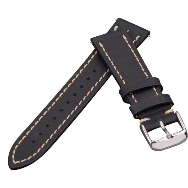 256102a2ad0 Pulseiras de relógio baratos EACHE Quick Release primavera Bar Watch Band  nova cor Crazy Horse couro