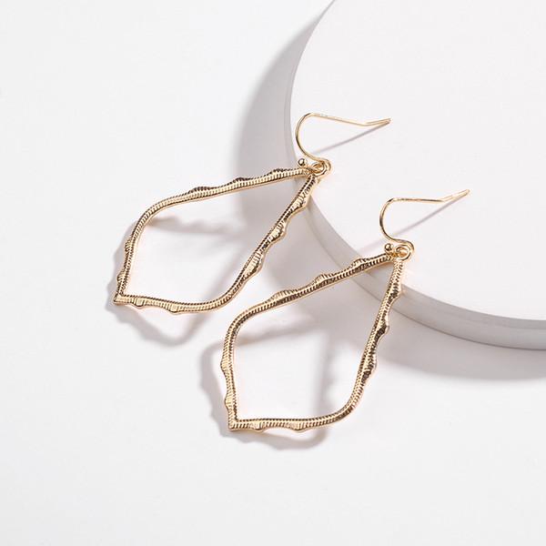 Kendra Style Designer 7 Colors Frame Teardrop Earrings for Women Fashion Jewelry Painting Metal Statement Water Drop Earrings