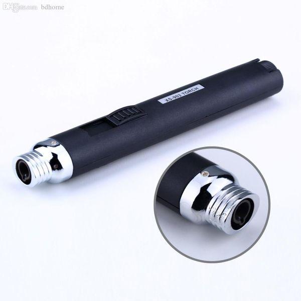 Al por mayor-Nueva llegada Protable Jet lápiz soplete de butano encendedor de gas para acampar cigarrillo estilo de pluma caliente XS-902 más ligero