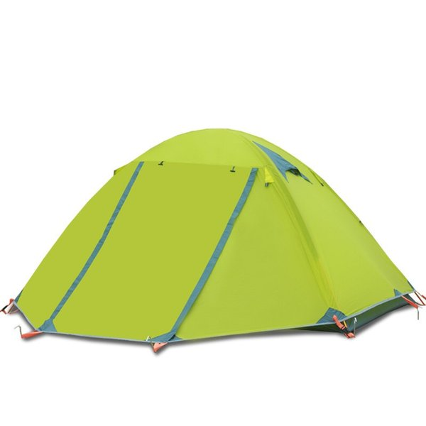 Double layer camping tent 3-4 people aluminum pole outdoor tent wind and rain proof waterproof tents UPS or DHL free shipping