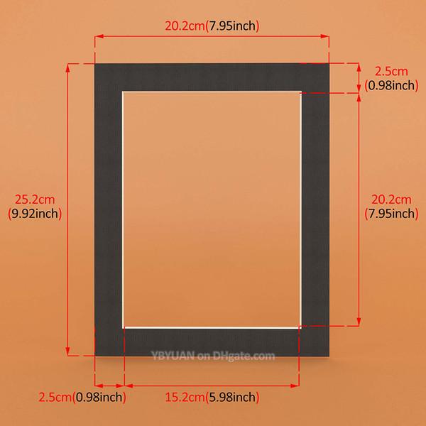 Siyah Dikdörtgen 10X8 inç