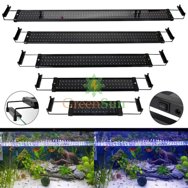 Europe Plug Aquarium Light LED Fish Tank light Fish Aquatic Decor Clip Lamp With Extendable Brackets White/Blue LEDs 6W 11W