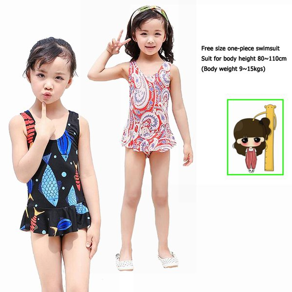 270eb7d3ab Hot Girls One-Piece Swimsuit kids Dress Swimwear men trunks shorts pants  parent-child