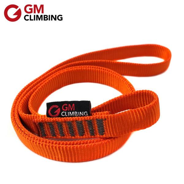 Equipo barato 22kN Rock Climbing Sling Rope Protector CE / UIAA Nylon Bearing Strap Reforzar el cinturón de cuerda Arborist Mountaineering Equipment