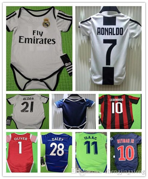 official photos 7cc1e e74e2 2019 The Latest 1819 Real Madrid RONALDO MBAPPE Baby Jersey 2018/19 M.SALAH  MESSI 6 18 Months Baby Shirt From Ronaldojersey, $13.6   DHgate.Com