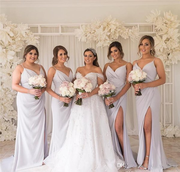Boho Bridesmaid Dresses Glamorous A Line Chiffon Summer Country Garden Formal Wedding Party Guest Maid of Honor Gowns Plus Size Custom Made