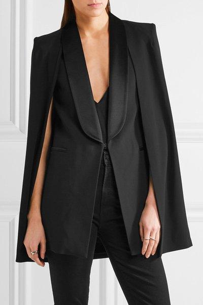 Bir takım elbise ceket fashionLong ceket kadın bayan kadın ilkbahar ve sonbahar pelerin