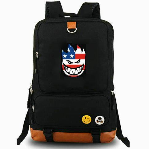 Live to burn backpack Spitfire day pack Skateboard school bag Cool packsack Laptop rucksack Sport schoolbag Outdoor daypack