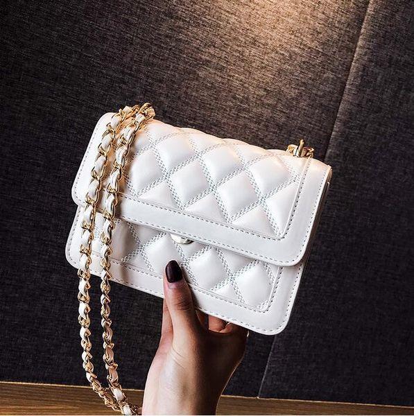 Factory wholesale brand women handbag small breeze classic diamond chain bag fashion embroidered line women shoulder bag Joker leather messe
