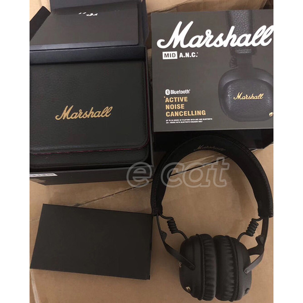TOP Quality Marshall MID ANC Bluetooth Headphones Active Noise Cancelling Wireless DJ Headphone Deep Bass Gaming Headset For Smart Phone