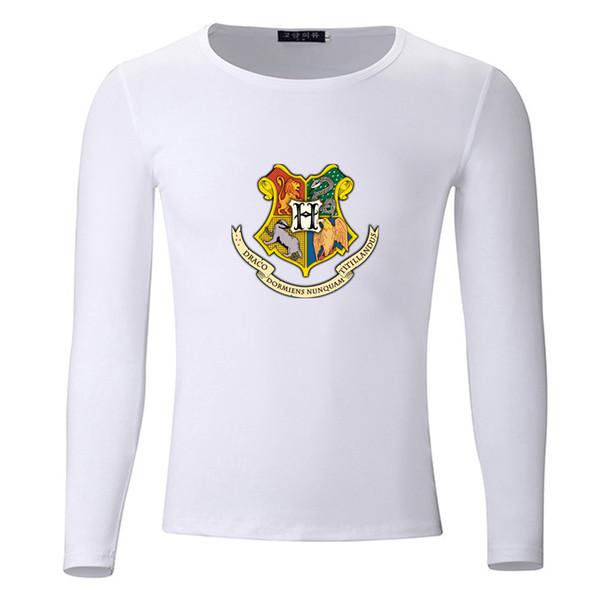 Badges Hogwarts Big Size Students Spring Autumn T-Shirt Long Sleeve Men Women Boys Girls T Shirt Tees Kids Tshirt