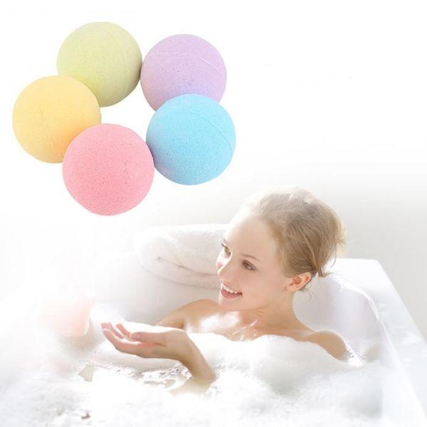 1 Pcs Orgânica Bola De Sal De Banho Bombas De Banho De Bolha Natural Bola Rosa Chá Verde Lavanda Leite Limão Cor Aleatória Sinos De Banho bola