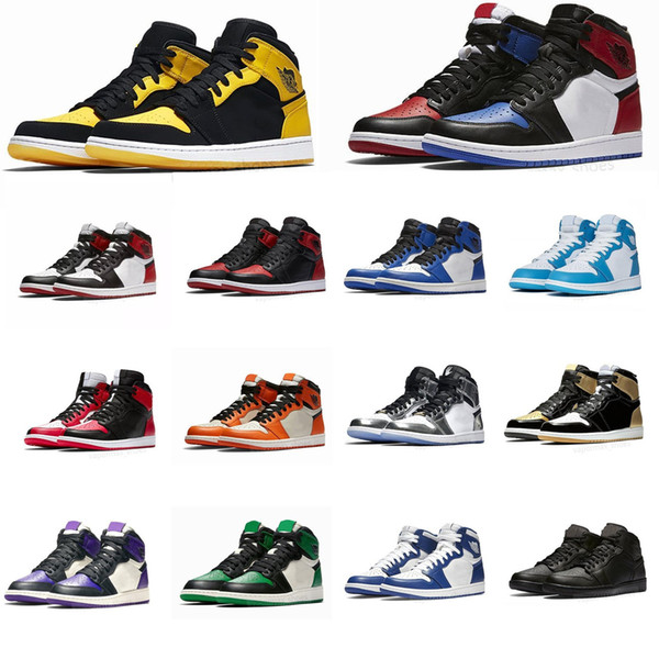2019 Jumpman 1s Basketball Shoes Athletics Sneakers Running Shoe For Women Sports Torch Hare Game Royal Pine Green Court with Box 36-46