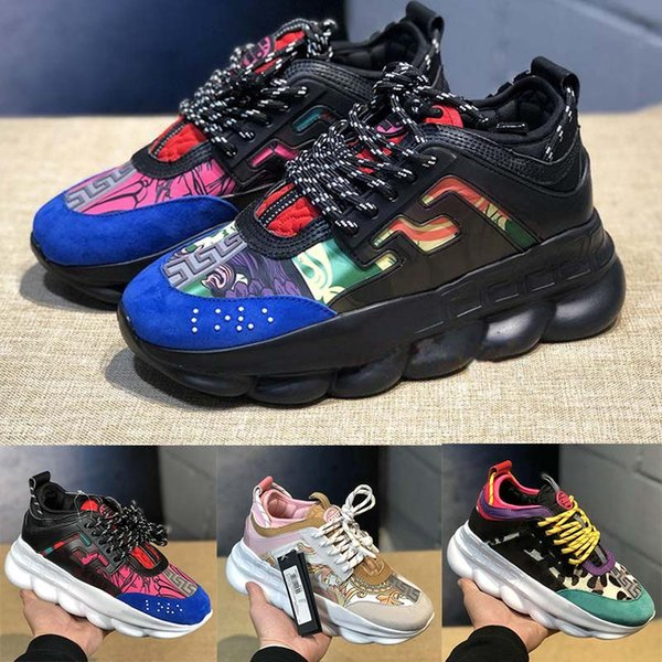 2019 Luxury Designer Sneakers Mens Women Running shoes Trainer Lightweight Link-Embossed Sole Fashion Women Casual shoes Size 36-45