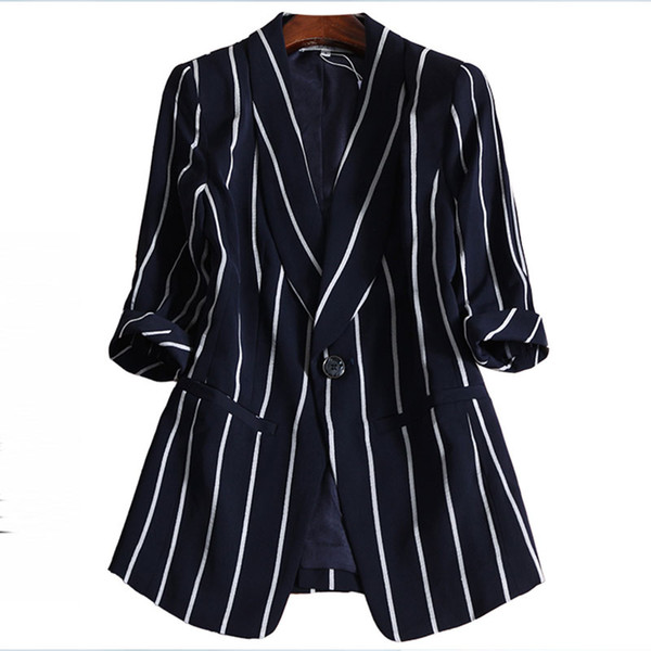 Blazer a rayas Oficina Mujer Dama Mujer Blazer Talla grande 4XL Jaquetas Feminino Chaqueta Mujer Chaquetas Mujer chaquetas 116