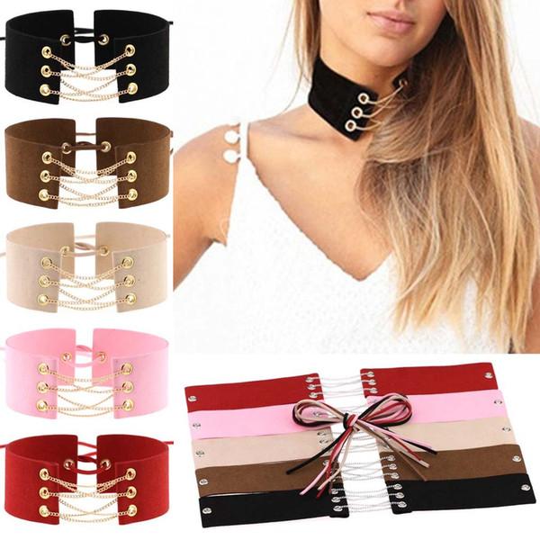 Многослойная Серебряная Золотая Цепочка Корея Flannelet Choker Ожерелье Воротник Ожерелье Полосы для Женщин Подарок Ювелирных Изделий