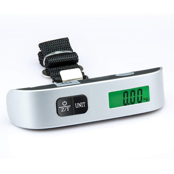 Digital Luggage Scale 110lb/50kg Mini Lcd Portable Electronic Hanging Scales For Suitcase Travel Bag Weight Weighing Balance