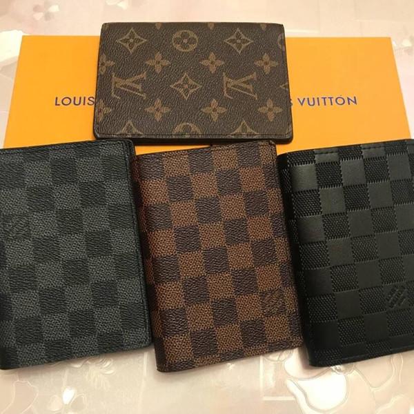 1FLouis Vuitton Luxury Designer Donne Portafogli in pelle Portafogli passaporto Porta carte di credito di marca Uomini affari Passaporto Holder WalletLOUIS