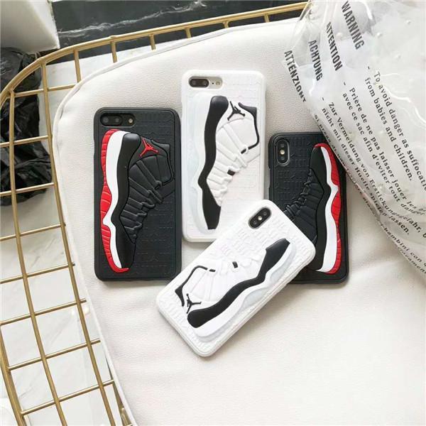 Custodia posteriore in silicone opaco per scarpe da pallacanestro in 3D con motivo sportivo Custodia in gomma satinata per iPhone 6.5 6.1 6s 7 8