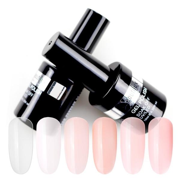 Clear Milky White Camouflage Nude Pink Rubber Base Coat Gel Polish UV LED Soak Off Gel Nail Polish 10ml