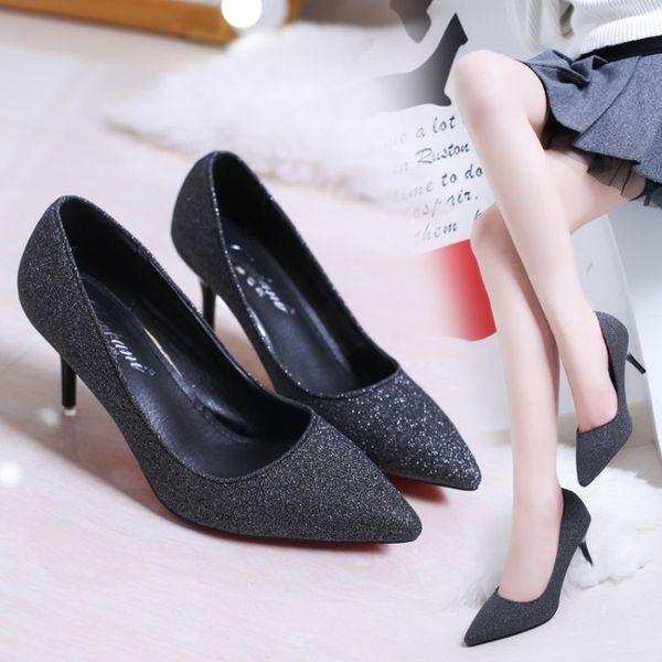 Acquista Dress Shoes Office Women Elegant Ladies Wedding Sposa Black Pumps Women Gold Tacchi Alti Platform Silver Heels Ladies A $30.61 Dal Deals3 |