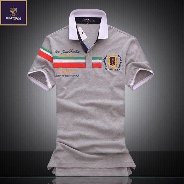 Yaz yeni erkek butik nakış nefes% 100% pamuklu gömlek erkekler yaka rahat iş gömlek