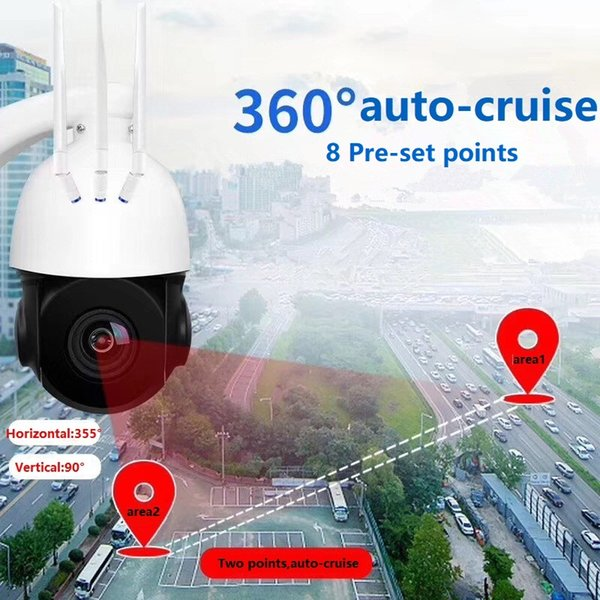 Free DHL 1080P 2Mp outdoor water-proof Max.128G SD 5X optical zoom wireless Pan/Tilt Speed dome camera exteral RCA 3.5mm Audio connector