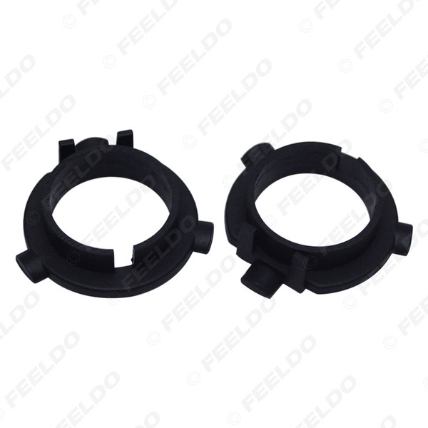 wholesale 2PCS Car LED Headlight Bulbs Holder H7 Socket Adapter Base For KIA K3/K4/K5/Sorento Hyundai Veloster/Snata Fe #5533
