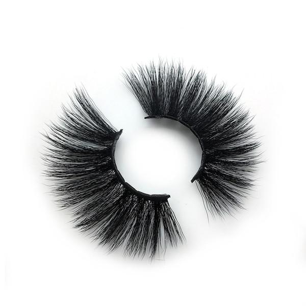 A18 The newest A pair of mink false eyelashes cross eyelashes thick hot sales false eyelash ripple silk eyelash