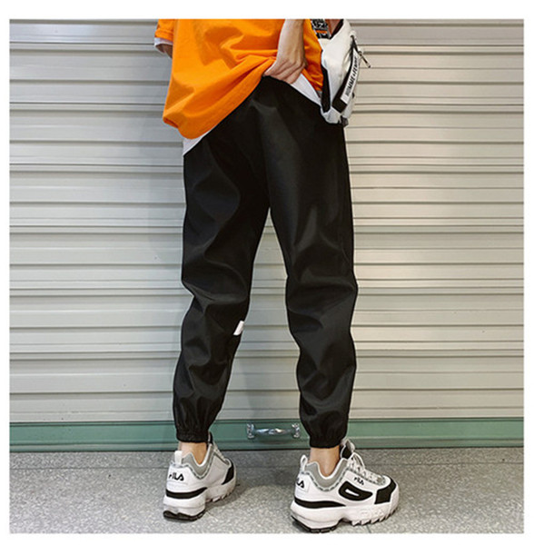 Mens Designer Letters Print Pencil Pants Big Check Hook Active Style Clothing Zipper Fly Loose Apparel