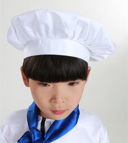 Cute Children Apron Fashion Chef Hat Pocket Set Kids Craft Art Kitchen Cooking Drink Food Baking DIY Painting