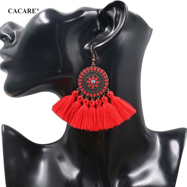 Fringe Earing Bohemia Big Pendent Tassel Earrings Women 2019 CHEAP Ethnic Drop Long 9 Choices F0473 Carey Earrings Bohemia