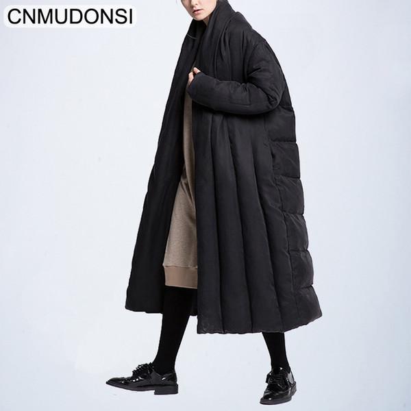 2019 à la mode Marque doudoune hiver chaud hiver manteaux longs femme, plus la taille femelle parka duvet de canard pour les femmes grandes