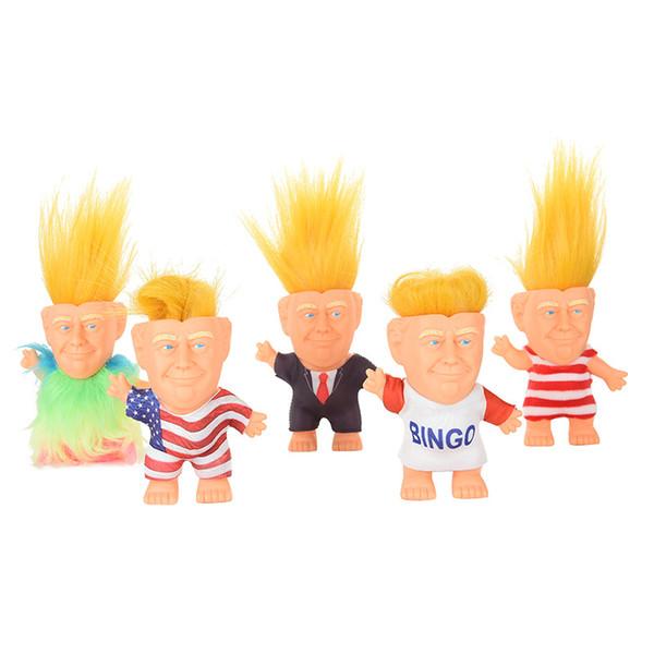 Donald Trump Figuras de Acción Muñeca Presidente de los EE. UU. John Trump Vestido Modelo Niños Niños Mano Jugar Juguetes Divertidos Navidad B11
