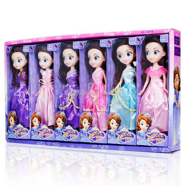 25CM Barbie bambola confusa bambola giocattolo 6 stili principessa abito bambole per grandi occhi Regalo di compleanno per bambina