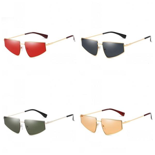 Kelebek Şekli Güneş Gözlüğü Deniz Filmi Gözlük Kadın Erkek Güneş Koruyucu Gözlükler Silika Jel Burun Pedleri Sarı Kırmızı Renkli 10xfb C1