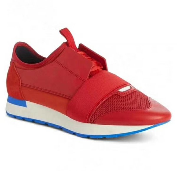 Leather toe/red