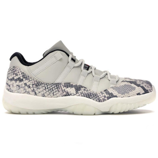 Low Snakeskin Light Bone