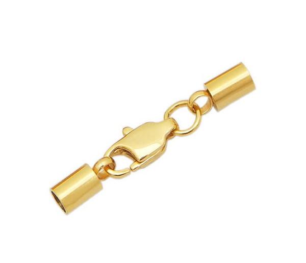 Ожерелье из нержавеющей стали с браслетом из нержавеющей стали, с карабином, Золотой цвет, продается Лот, 100 комплект / Лот