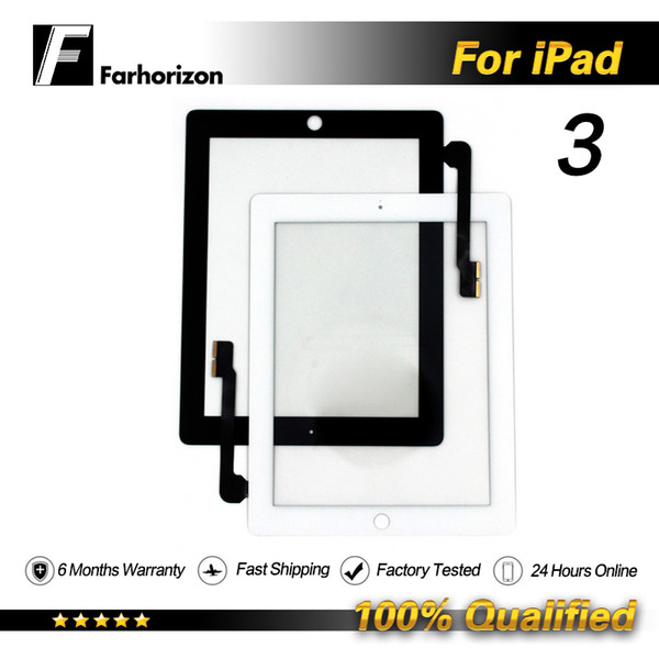 For iPad 3 LCD Digitizer Glass Replacement Touch Display Screen Front Glass Panel Wholesale Price & Free Shipping