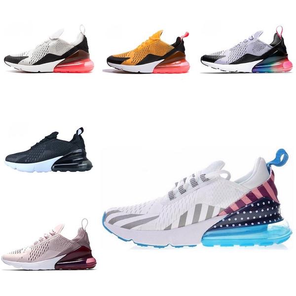 Acheter Nike Air Max 270 Nouveautés 2019 Chaussures Hommes Noir Triple Blanc Coussin Femme Sneakers Athlétisme Baskets Chaussures De Course Taille 36