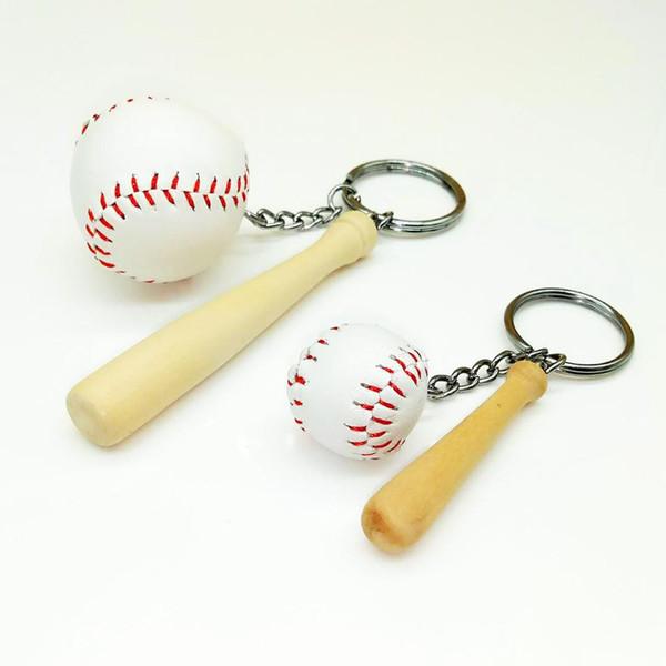 Mini Baseball Porte-clés Sac Charme Pendentif Balle Ornements Femmes Hommes Enfants Porte-clés Fans De Sport Souvenir Cadeau D'anniversaire En Gros