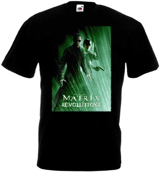 Matrix Revolutions Movie Poster Camiseta de hombre Hip Hop Harajuku Camisetas Chica sexy Camiseta Camisetas personalizadas Tops para hombre