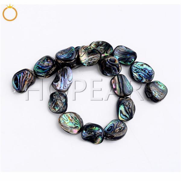 top popular Natural Abalone Shell Semi Precious Gemstone Strand DIY Loose Paua Beads for Jewelry Making Freeform Irregular Shape 2021