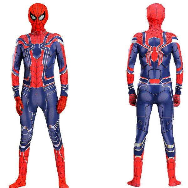 2019 Kids Halloween Mascot Spiderman Costumes,Halloween Children's Clothing, Children Spider-Man Costume